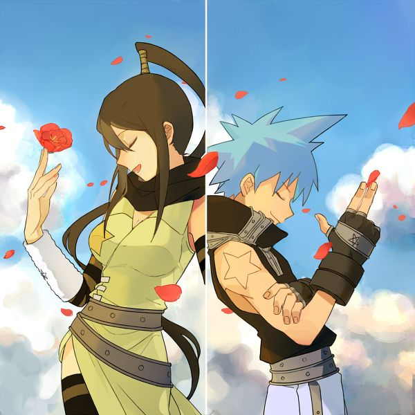 Soul Eater - Tsubaki and Black Star ((lol they look like they're doing the opening sequence for Team Rocket))