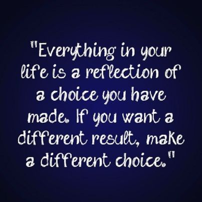everything is a choice. and you can ANYTHING in your world, just by making one.