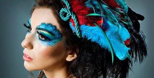 fashion, feathers, and false eyelashes image