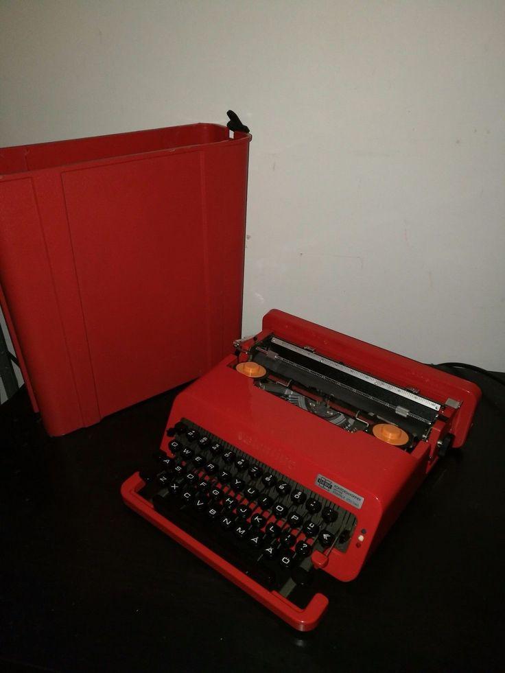 Olivetti Valentine typewriter Ettore Sottsass Rare Swedish Layout | eBay