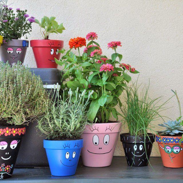 Les barba-pots - diy flowerpot