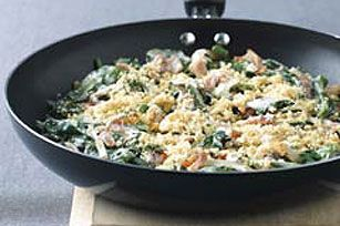 #kraftrecipes Skillet Spinach Gratin recipe