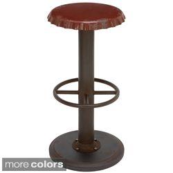 BVS Concept: Bottle cap bar stools  On sale on Overstock.com Retro Antiqued Bottle Cap Bar Stool
