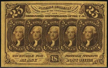 Value of July 17, 1862 Twenty Five Cents Fractional Currency ...