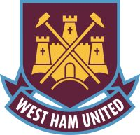 Crest of West Ham United  See all Premier League clubs' social media profiles in the keebits App.   Get the app on www.keebits.com