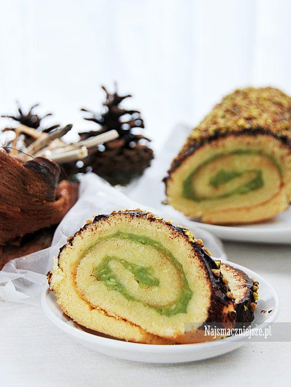 Rolada biszkoptowa z jabłkami #rolada #cake #święta #jabłka #ciasto #najsmaczniejsze #food