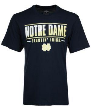 Colosseum Men's Notre Dame Fighting Irish Two Face T-Shirt - Blue XXL