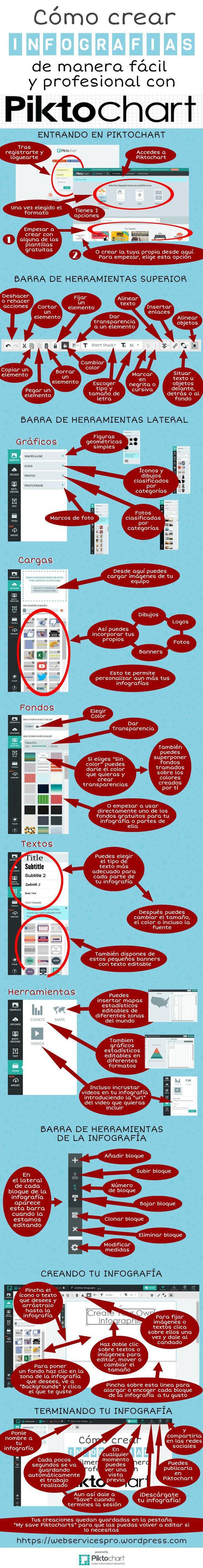 Cómo crear infografías con Piktochart #infografia #infographic #socialmedia…