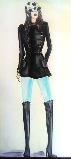 Dibujo de figurin-textura vinipiel