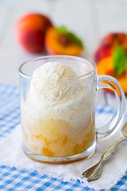 Peach Cobbler Mug Cake {5 Minute Recipe} - Cooking Classy