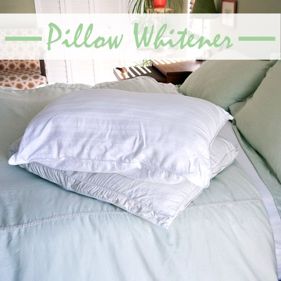 Make your own eco-friendly pillow whitener.