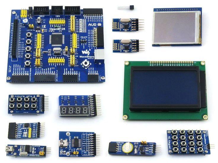 AVR Development Board ATmega128A-AU 8-bit RISC AVR ATmega128 Development Board +11 Accessory Kits =OpenM128 Package B #Affiliate
