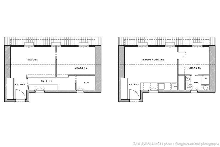Plan avant apr s d 39 un appartement de 36m2 r investir le lieu de la ludu - Plan appartement 30 m2 ...