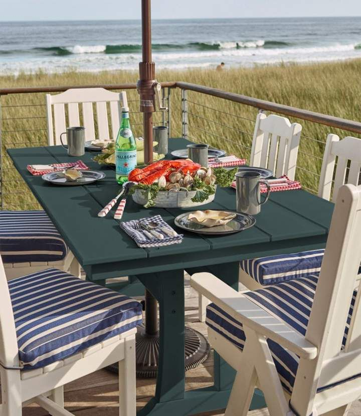L Bean All Weather Farmhouse Table Large Cool