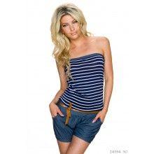 Letní dámský overal - modrý aff#