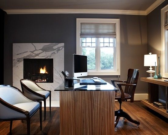 Contemporary Home Office Accent Wall Design, Pictures, Remodel, Decor and Ideas - page 15