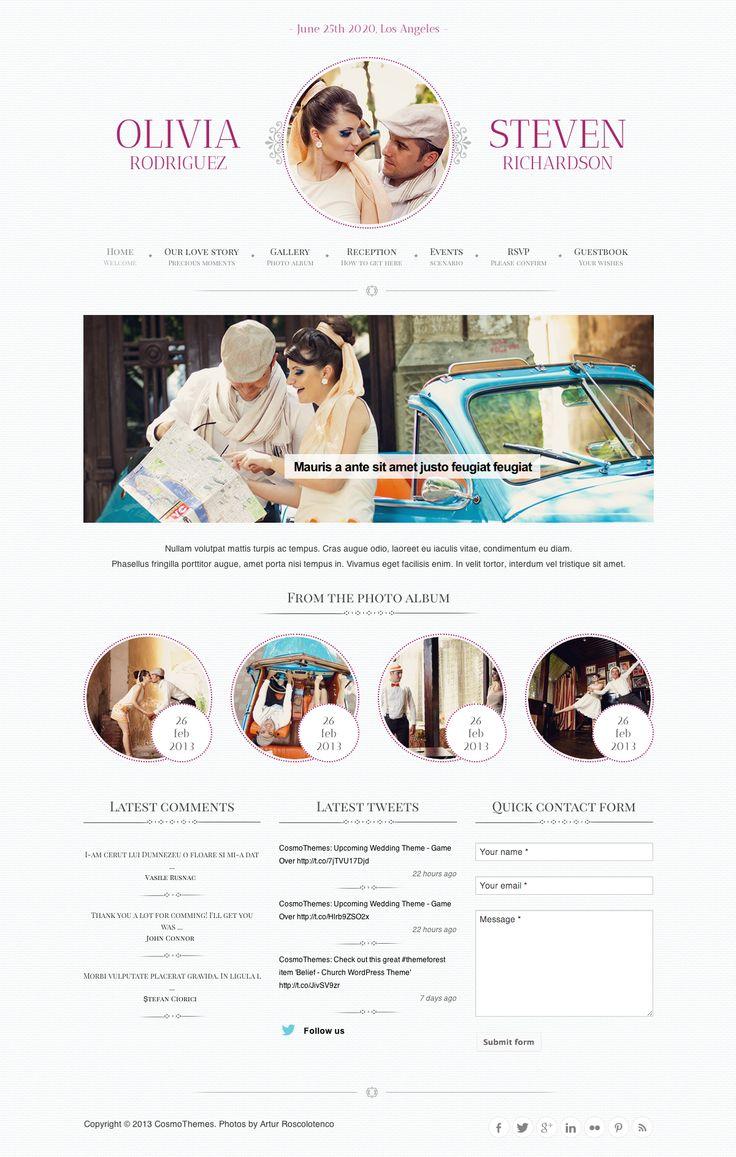The 25 best Wedding Website images on Pinterest | Wedding website ...