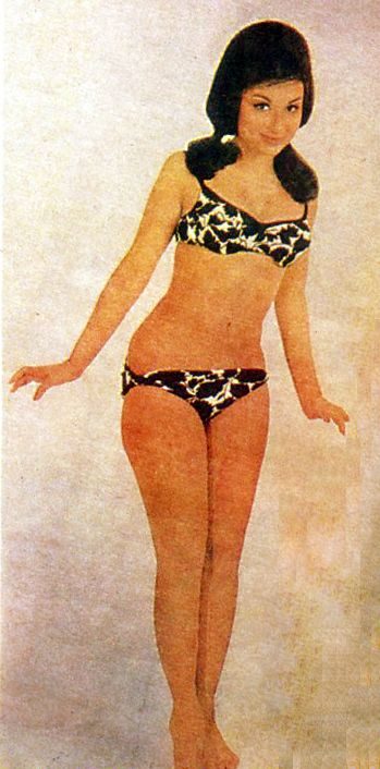 Sharmila Tagore for Filmfare 1966--to have a body that looks like this! what classic sexy looks like!