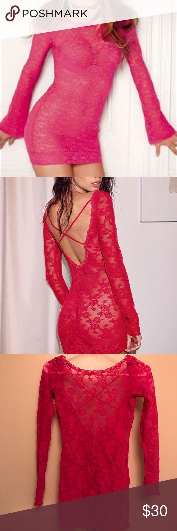 Victoria's Secret Lingerie Hot Pink VS Boatneck Crossback Babydoll - Super Sexy - XS Victoria's Secret Intimates & Sleepwear