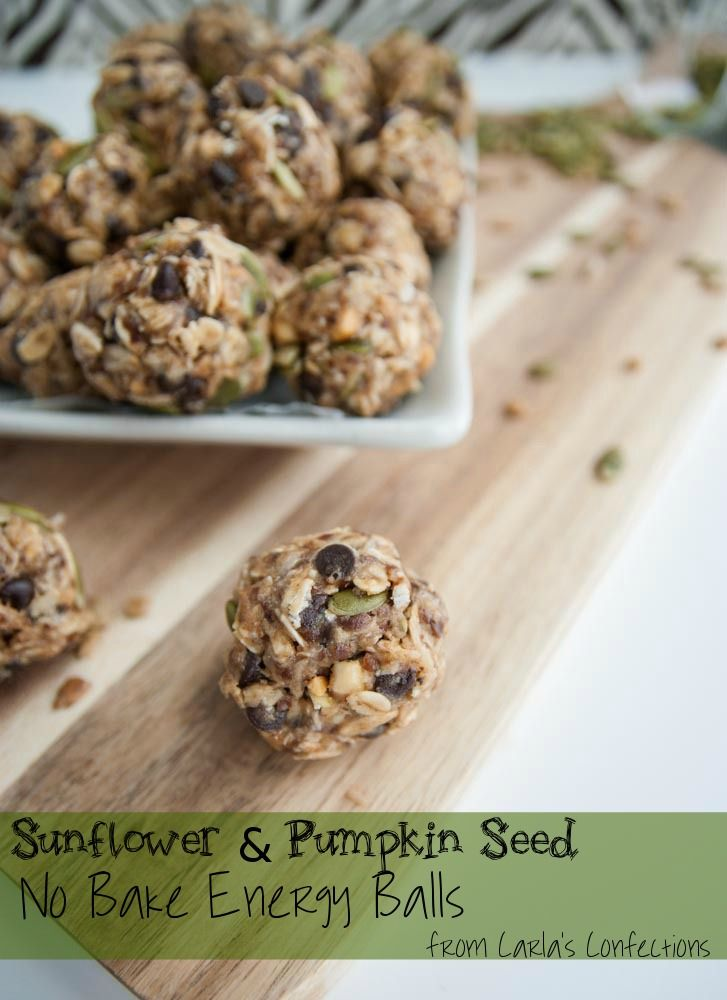 Carla's Confections: Sunflower & Pumpkin Seed No-Bake Energy Balls - (USE almond butter and maple syrup for low fodmap)