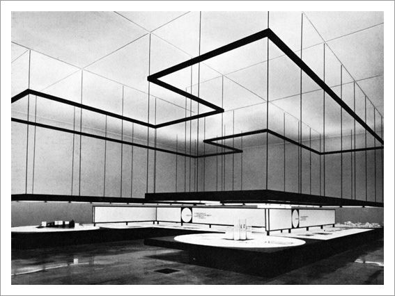 Milan Fair 1961 Architects: Franco Albini & Franca Helg / Designer: Bob Noorda View of the hall 'Montecantini Operations in Southern Italy'.