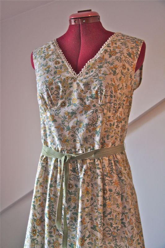 Summer dress from a Japanese sewing pattern