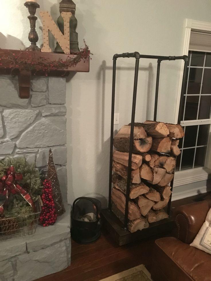 Industrial firewood rack for the farmhouse