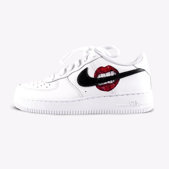 Nike Air Force 1 'Lips' Hand painted Born Originals Custom