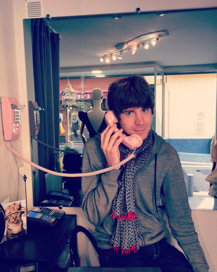 My faithful employee :-D #cute #vintagephone #retro #style #fashion #nice06 #vieuxnice #boutique #shopping #ninatransfeldcouture
