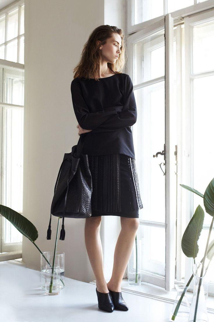 Zofia Chylak Polish label Bags and fashion Black Sack BASIC ALL BLACK