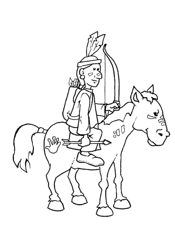 45 best images about coloriages d 39 indiens on pinterest iroquois teepees and belle - Dessin anime indien cheval ...