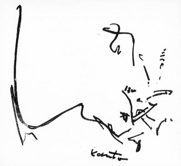 """Bez tytułu, ok. 1963  Autor:Kantor Tadeusz (1915 - 1990) Rozmiary:16.7 x 17.2 cm Technika:litografia, papier Opis:sygn. z płyty p.d.: Kantor  Grafika pochodzi z katalogu-teki """"Konfrontacje 63""""  Grafika nie jest oprawiona."""