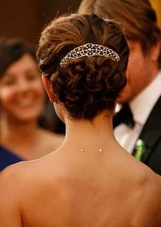 Neck piercing. So elegant on Natalie Portman!