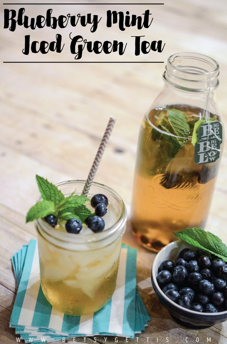 Blueberry Mint Iced Green Tea: perfect summertime drink ...