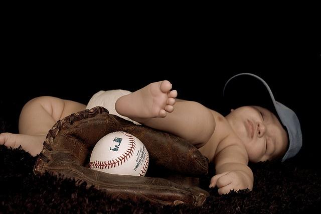 Vintage Baseball Baby by NickiKristof, via Flickr