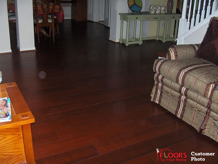 image brazilian cherry handscraped hardwood flooring. find great deals on cfs fiji brazilian cherry handscraped hardwood flooring image t