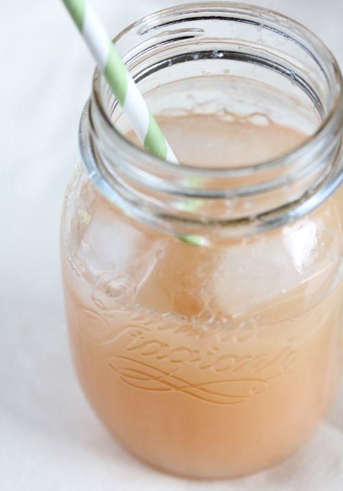 Ginger-grapefruit-lime juice.