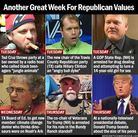 Another Great Week For Republican Values