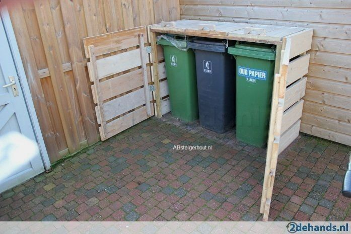Shed Plans Outdoor Wooden Garbage Can Storage Click The Image For Various Garage Organization Garbage Can Storage Garbage Shed Diy Storage Shed Plans