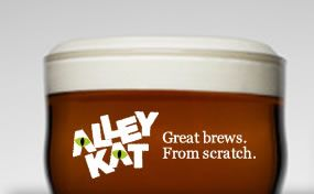 Local Edmonton Brewery Alley Kat. My favourite beer is Aprikat, their Apricot Wheat Ale.