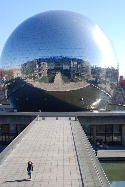 La Géode à  La Villette #Paris19  @PARCVILLETTE @citedessciences
