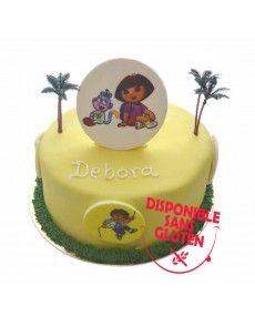 Gâteau d'anniversaire logo Dora
