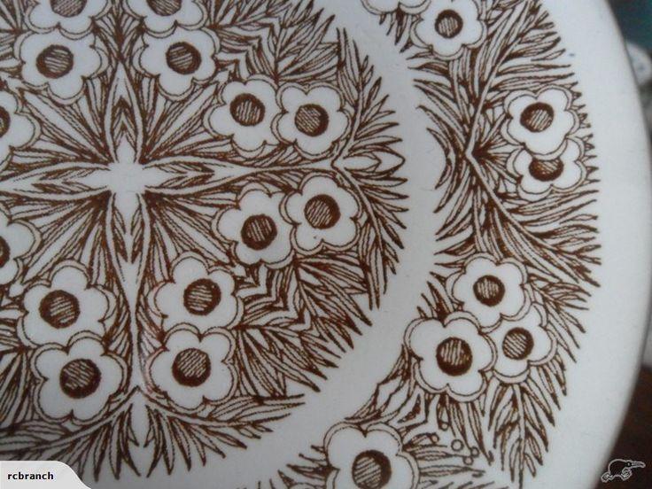 MANUKA pattern butter plate