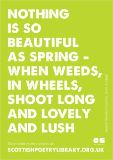 Gerard Manley Hopkins writes about the joy, energy and innocence of spring. | Scottish Poetry Library