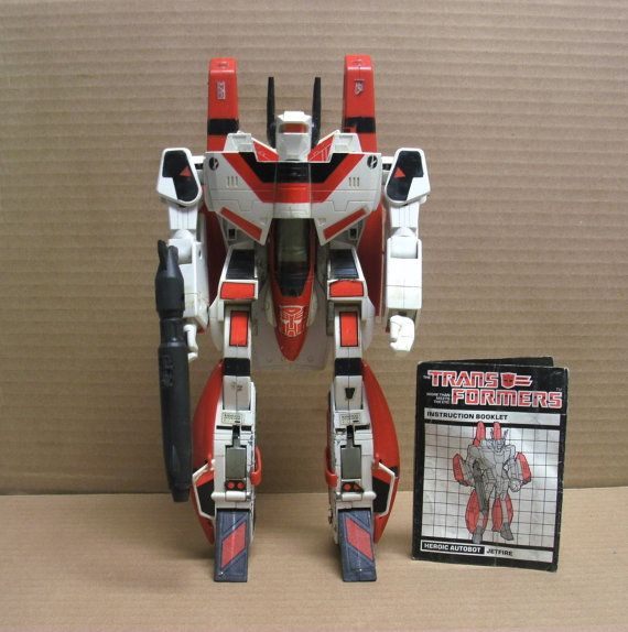 1985 Transformers Jetfire Skyfire by ShopWithAMomBoutique on Etsy, $150.00