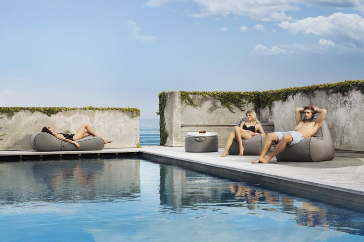 Tulum Outdoor Bean Bag Collection -  stylish, comfortable and durable #putlifeonpause #lujo #outdoorfurniture