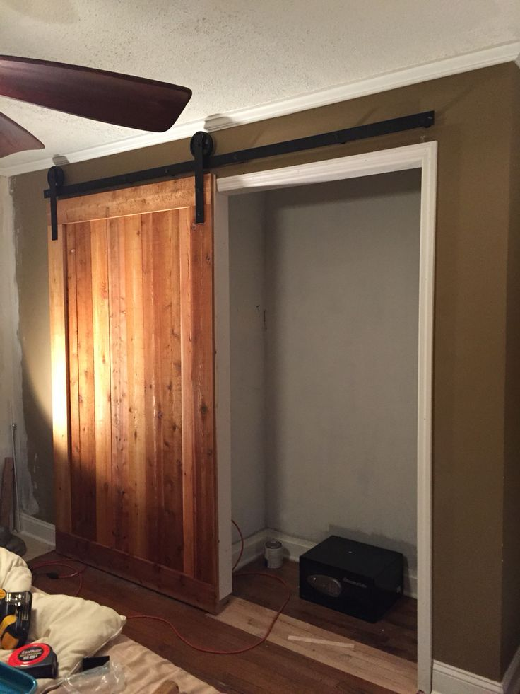 Rough Cut Cedar Closet Barn Door Build By Scrapwork