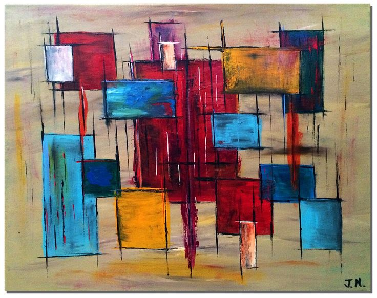 Abstract #4, Acrylic on Canvas #painting #abstract #abstractpainting #art #acrylicpainting #artists #visualarts #modernart #midcenturyart #abstract