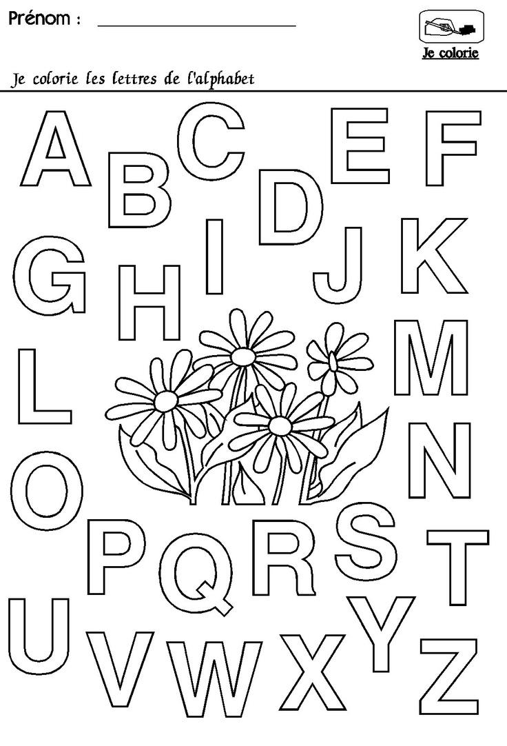 Maternelle rentrée des classes : l'alphabet