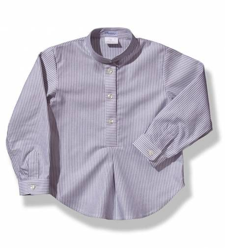 Camisa a rayas grises